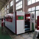Machine de découpage en métal de laser de fibre de feuille de fer automatique d'acier inoxydable de 4mm à vendre