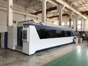 Découpeuse de laser de fibre de 1500mmx3000mm avec la source laser 500w, 700w, 1000w