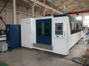 découpeuse de laser de fibre d'acier au carbone de rendement élevé 2000w, machine de laser de fibre pour l'acier inoxydable