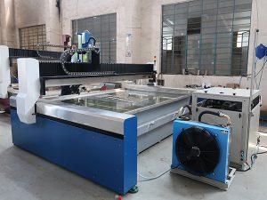 Petite découpeuse de jet d'eau de commande numérique par ordinateur, jet d'eau à haute pression: marbre, granit, verre, céramique, métal