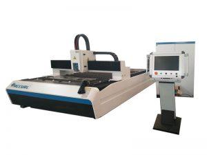 Acier au carbone de 300w 500w 750w / machine de découpage de laser de fibre de commande numérique par ordinateur de tôle d'acier inoxydable à vendre