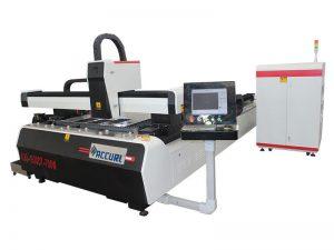 découpeuse de laser de métal de fibre de tube / tube carré d'acier inoxydable