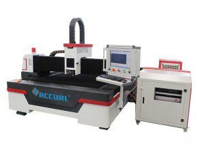 Machine de découpage de tuyau de laser de fibre de commande numérique par ordinateur de 4000w avec l'axe de la fibre 3 de raycus de porcelaine