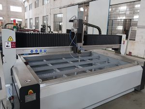 prix de la machine de découpe au jet d'eau de verre avec pompe kmt