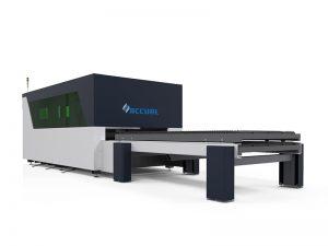 Équipement de coupe de laser de fibre de 1500w ipg avec la table de navette à double échange