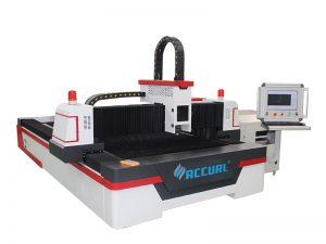Machine de découpage de laser de fibre de commande numérique par ordinateur de tube en métal argenté d'acier inoxydable 1000w