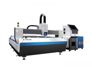 Système de découpe laser à fibres intégralement fermées avec table interchangeable