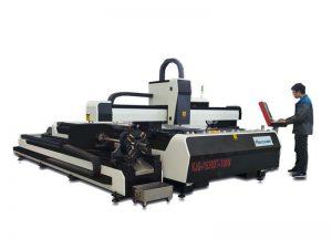 coupeur de laser en métal de la fibre 1000w avec la table de travail d'échange