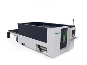 découpeuse à grande vitesse de tôle de fibre de commande numérique par ordinateur / laser en acier inoxydable